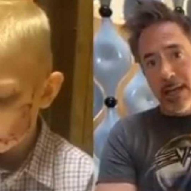 Dječak i filmski Iron Man, Robert Downey Jr.