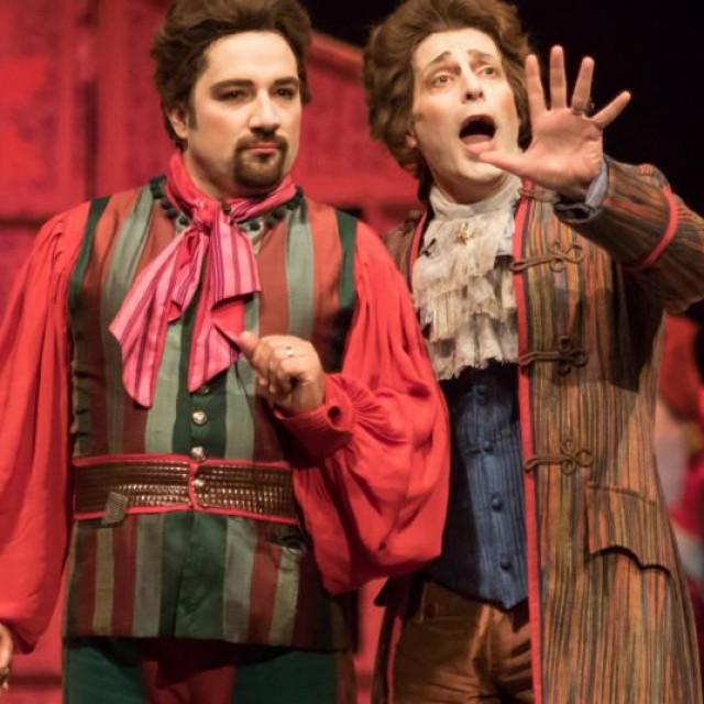 Prizor iz predstave 'Seviljski brijač'