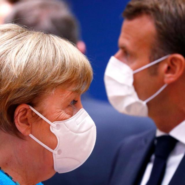 Merkel i Macron