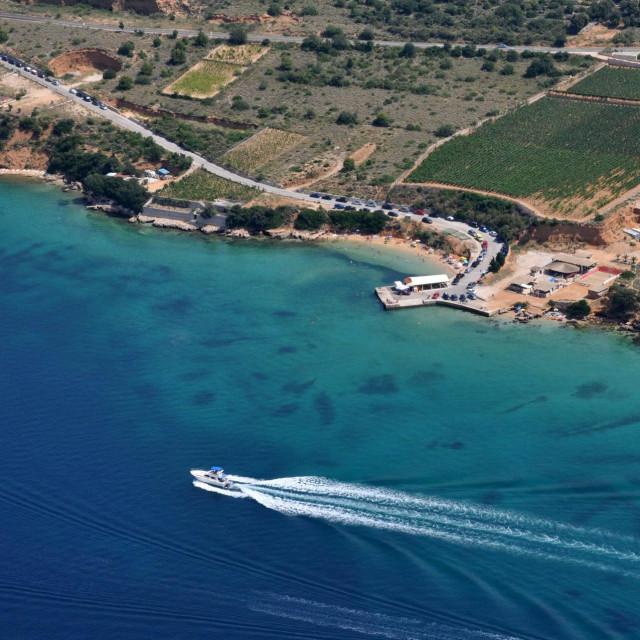 plaža Pudarica snimljena iz zraka<br />