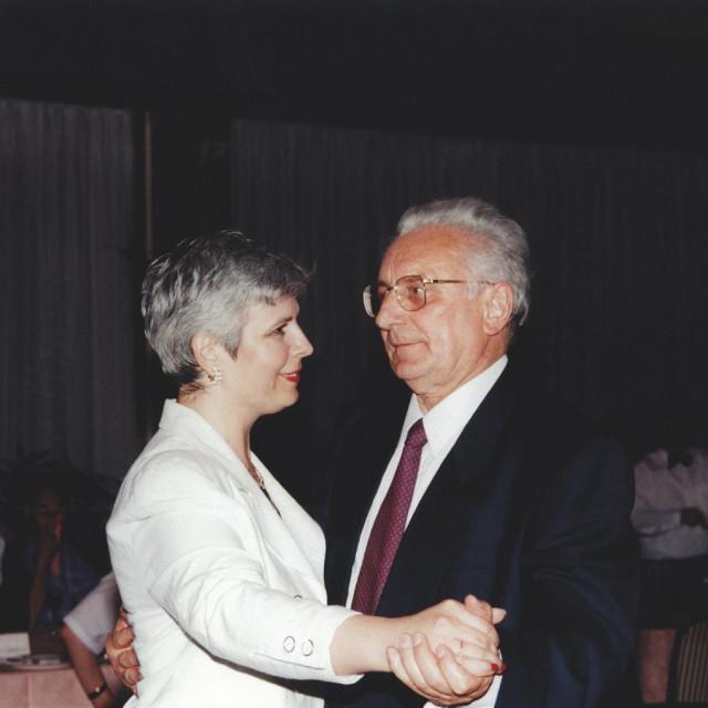 Jadranka Kosor i Franjo Tuđman