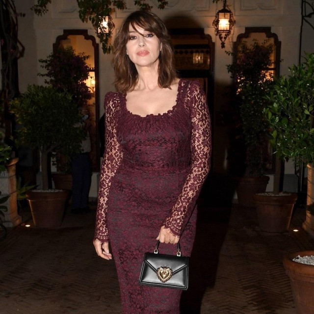 Monica Bellucci during the closing night of the Taormina Film Festival on July 18, 2020 in Taormina, Italy.,Image: 545192182, License: Rights-managed, Restrictions: Italy Out, Model Release: no, Credit line: IPA/ABACA/Abaca Press/Profimedia