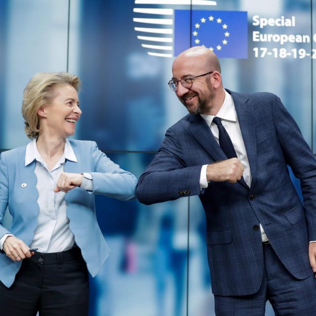 Ursula von der Leyen, predsjednica Europske komisije i Charles Michel, predsjednik Europskog vijeća