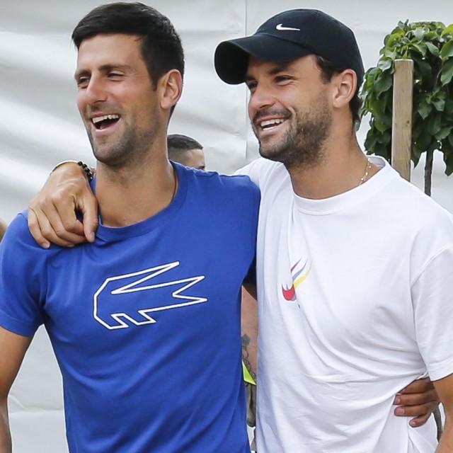 Novak Đoković i Grigor Dimitrov tijekom Adria Toura