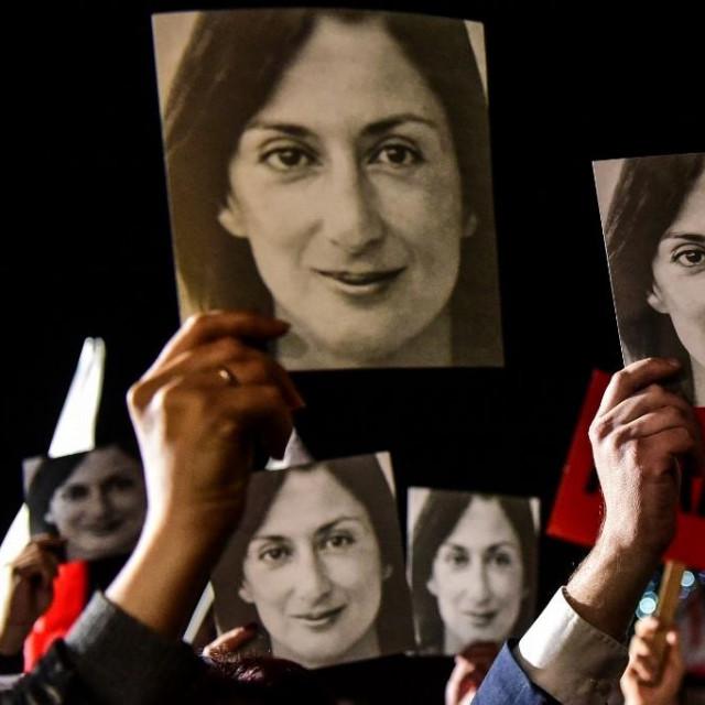 Prosvjed protiv korupcije za Daphne Caruanu Galiziu, u studenom 2019.