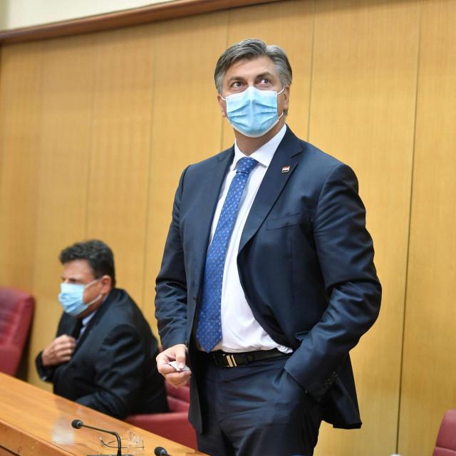 Konstituirajuca sjednica novog 10.saziva Hrvatskog sabora.<br /> Na fotografiji: Andrej Plenkovic.<br />