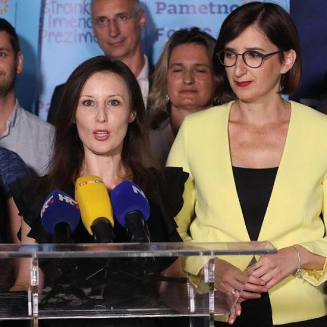 Dalija Orešković, Marijana Puljak i Dario Zurovec na dočeku izbornih rezultata