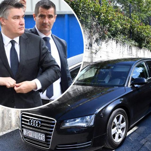 Službeni automobili na parkingu restorana Tač, Zoran Milanović