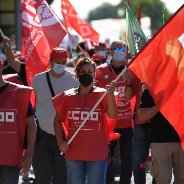 Prosvjed djelatnika Airbusa kod Madrida