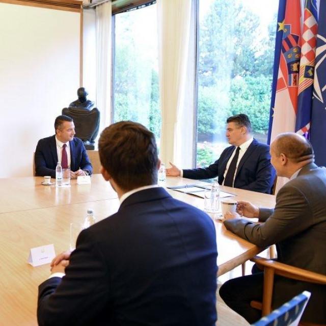 Predsjednik Republike Zoran Milanović primio je izaslanstvo Hrvatske građanske inicijative iz Crne Gore