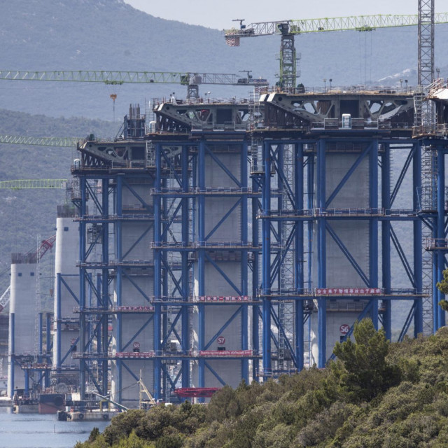 Gradilište Pelješkog mosta