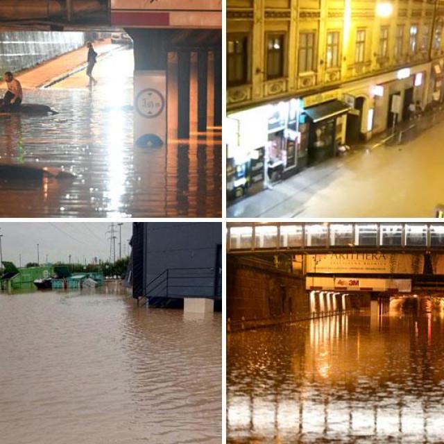 Posljedice nevremena u Zagrebu i Varaždinu