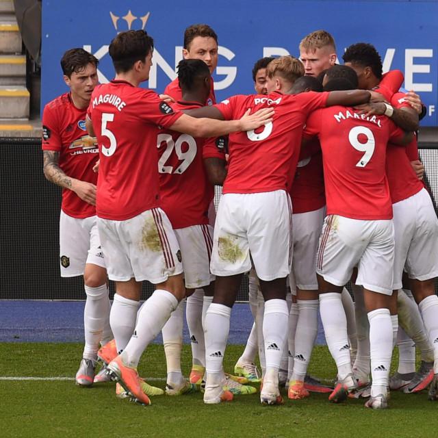 Slavlje igrača Manchester Uniteda