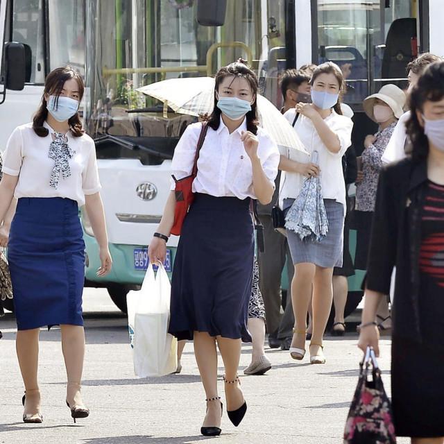 Prizor iz Pjongjanga snimljen krajem lipnja