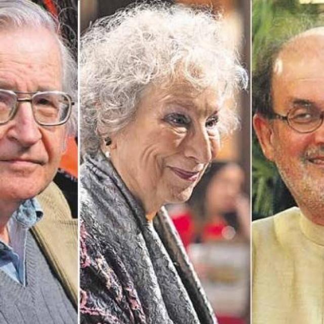 Noam Chomsky, Margaret Atwood, Salman Rushdie