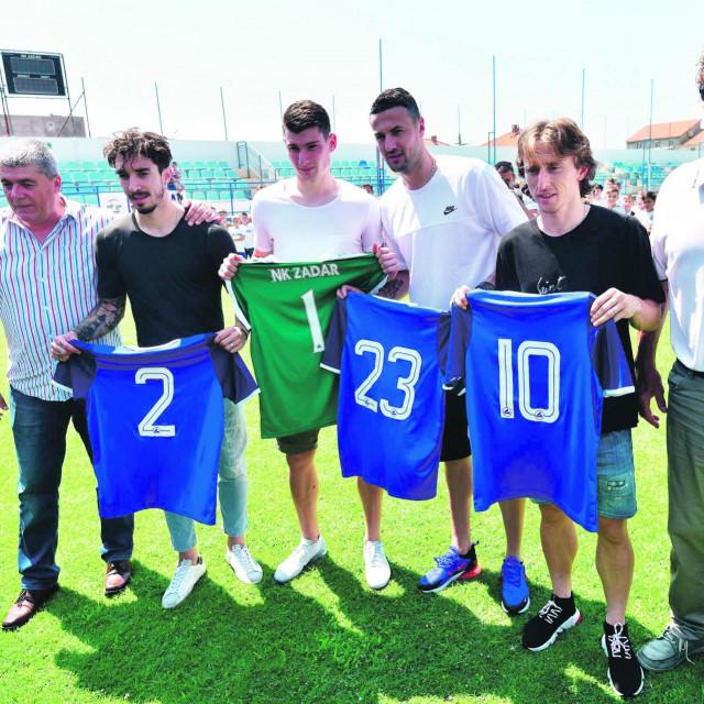 Luka Modrić, Šime Vrsaljko, Danijel Subašić i Dominik Livaković posjetili su matični klub NK Zadar nakon SP-a