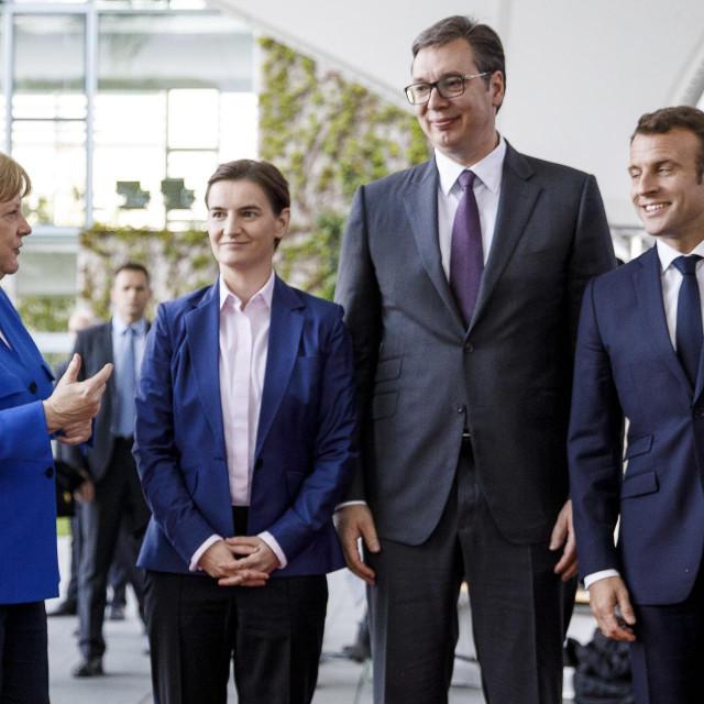 Angela Merkel, Ana Brnabić, Aleksandar Vučić i Emmanuel Macron