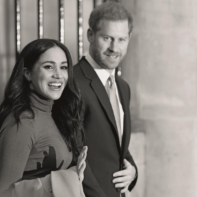 Britain's Prince Harry, Duke of Sussex and Meghan Duchess of Sussex reacts as they leave after her visit to Canada House in thanks for the warm Canadian hospitality and support they received during their recent stay in Canada<br /> Prince Harry and Meghan Duchess of Sussex visit to Canada House, London, UK - 07 Jan 2020,Image: 491574354, License: Rights-managed, Restrictions:, Model Release: no, Credit line: -/Shutterstock Editorial/Profimedia