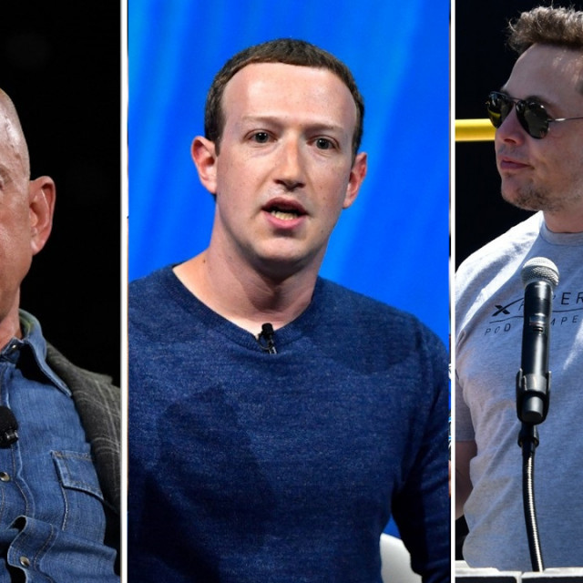 Jeff Bezos, Mark Zuckerberg, Elon Musk