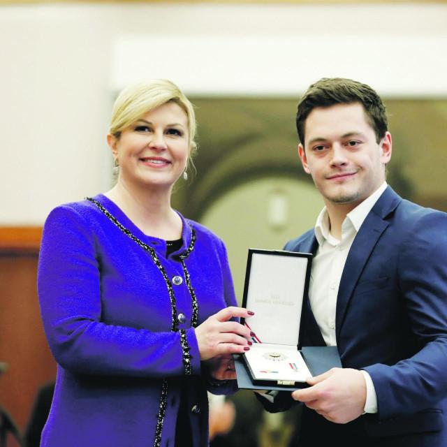 Kolinda Grabar Kitarović i Tin Srbić