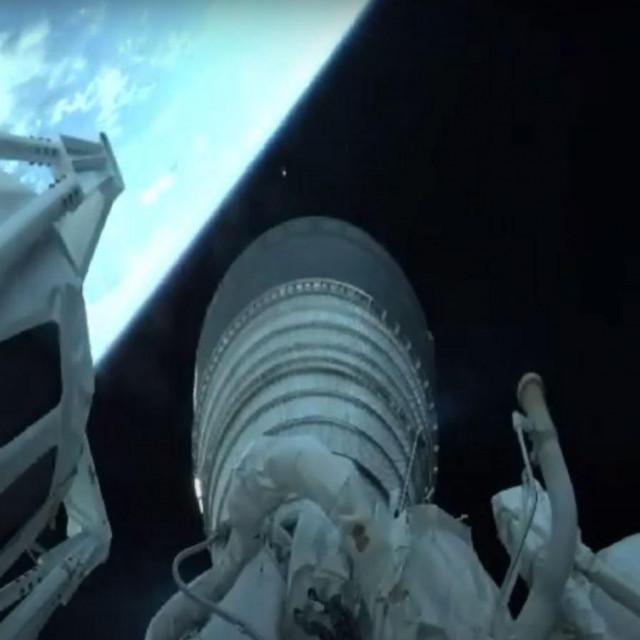 Prizor nakon uzlijetanja rakete
