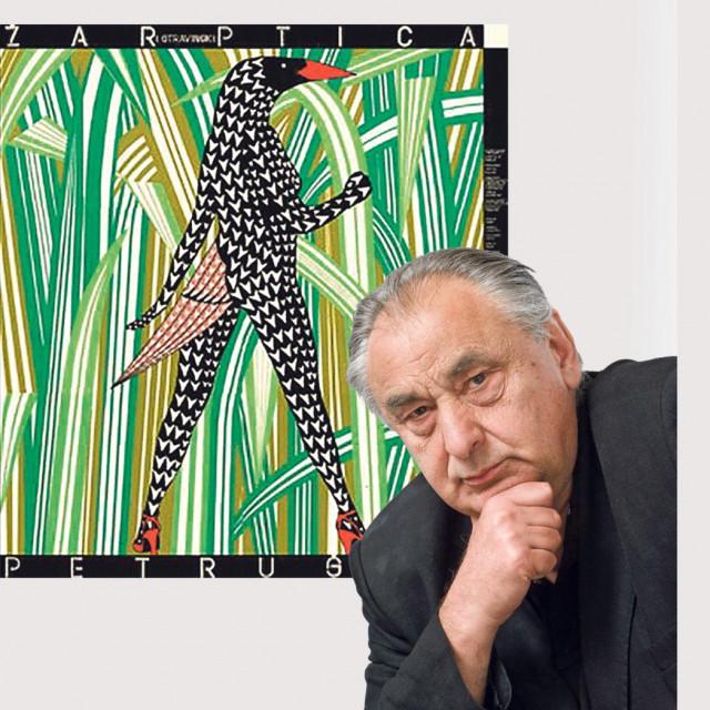 """Boris Bućan; nagrađeni plakat za predstavu """"Žar ptica"""""""