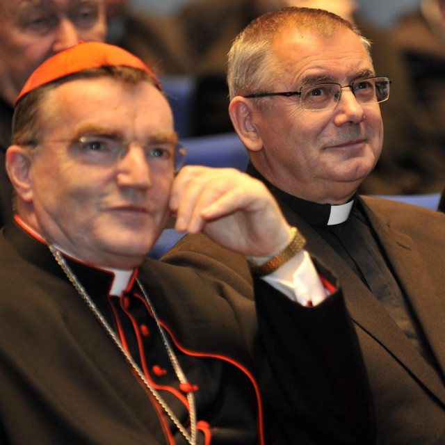 Kardinal Josip Bozanić i Ivan Miklenić