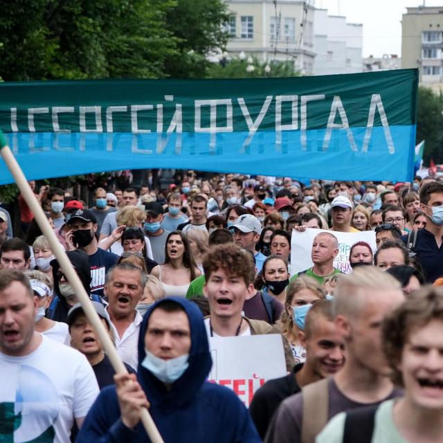 Prosvjedi u ruskoj regiji Habarovsk