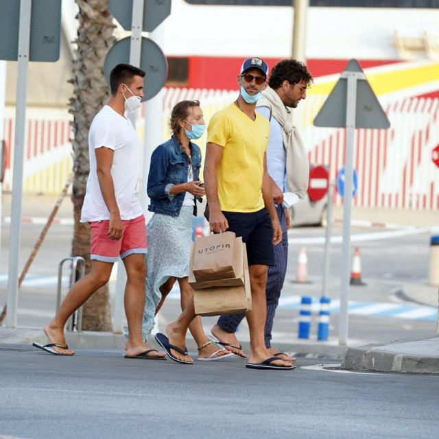 EXCLUSIVE IMAGES - Tennis player Novak Djokovic and his wife Jelena Djokovic together with friends seen out and about on July 29th 2020 in Cadiz, Spain.,Image: 548313668, License: Rights-managed, Restrictions:, Model Release: no, Credit line: IMP Features/IMP Features/Profimedia