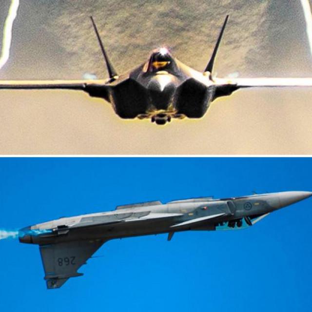 F-35A, JAS 39 Gripen i F/A-18 Super Hornet