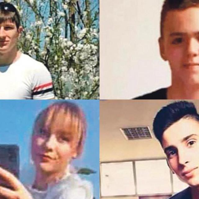 """Zbog pogibije ovih mladih ljudi do daljnjega je zatvoren njihov omiljeni kafić """"Kafi"""". Jedan od stradalih - Ante Gazić (gore desno), radio je tamo kao konobar. Najmlađa među njima je 18-godišnja Lea Pajtak"""