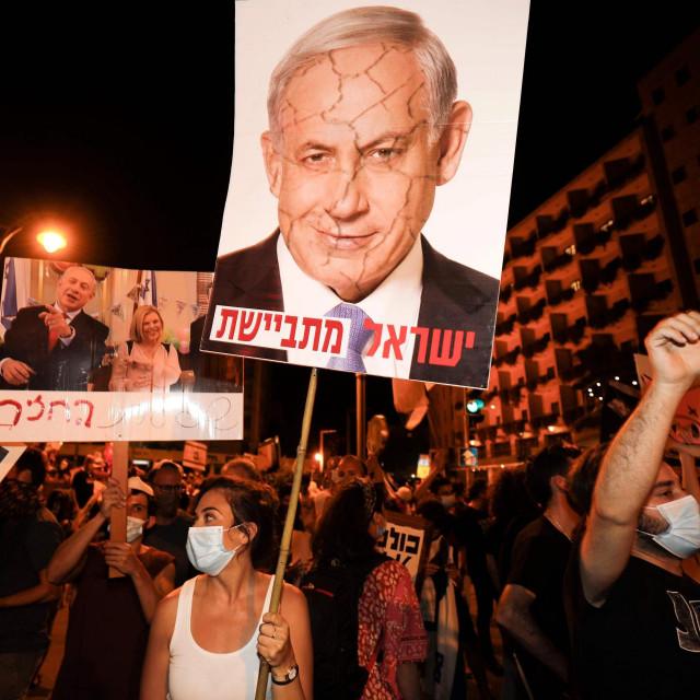 Prosvjed protiv premijera Benjamina Netanyahua