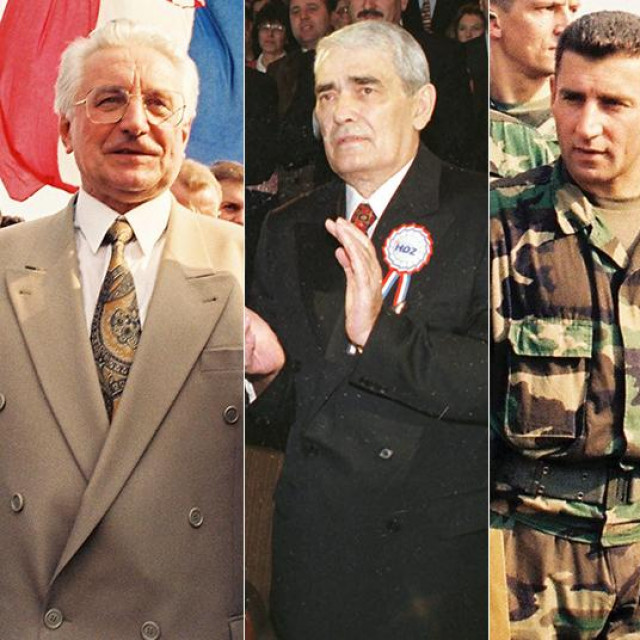 Franjo Tuđman; Gojko Šušak, Ante Gotovina, Petar Stipetić, Peter Galbraith