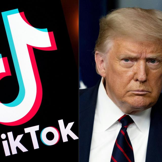TikTok logo i Donald Trump