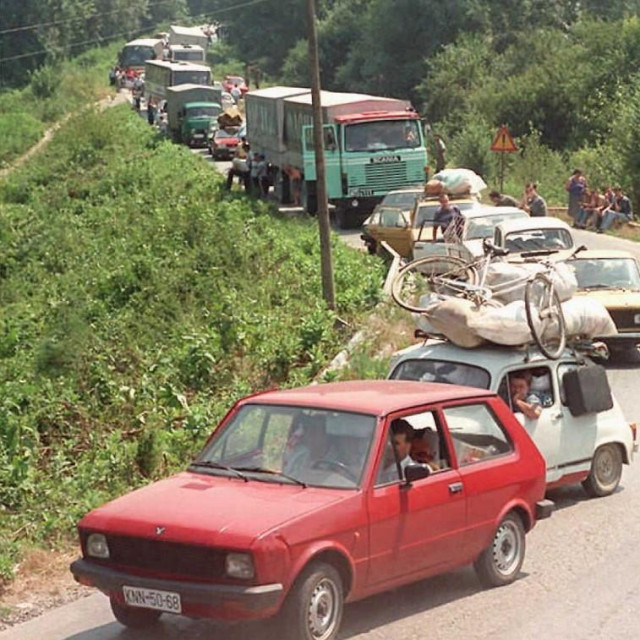 Srpske izbjeglice iz Krajine 1995.