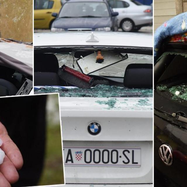 Uništeni automobili na karlovačkom području