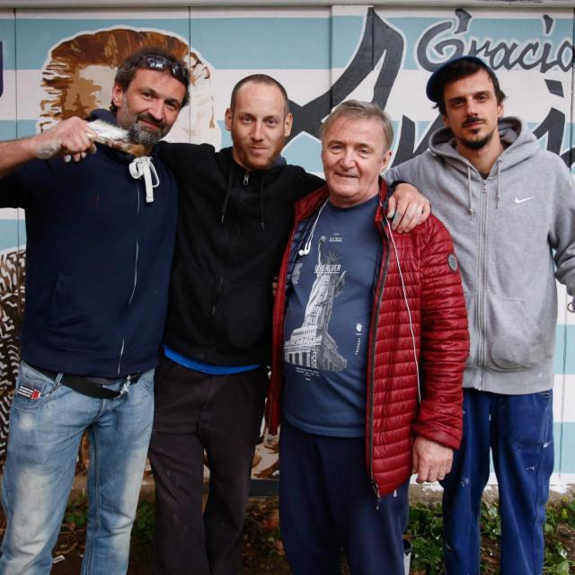 Rajko je sudjelovao uoslikavanju trafostanice u čast novinara Zvonimira Magdića Amiga na Ravnicama