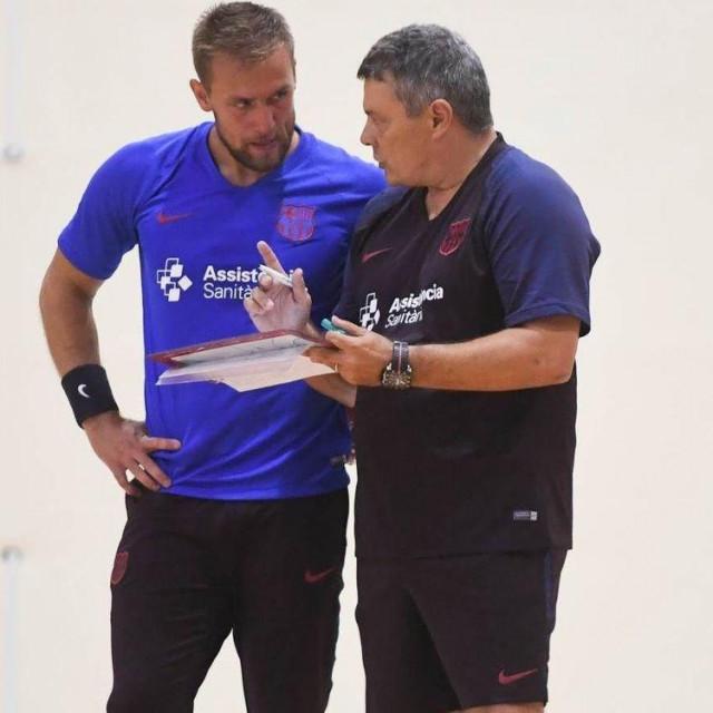 Luka Cindrić i trener Xavier Pascual