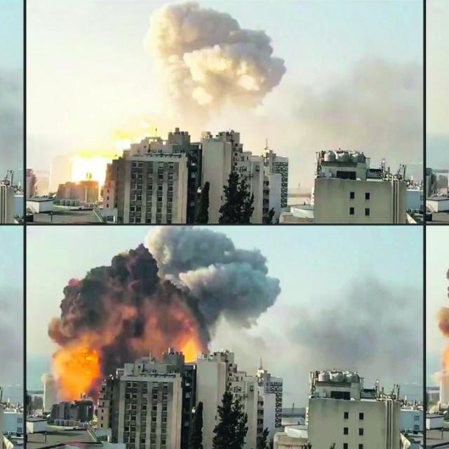 Trenutak eksplozije u Libanonu