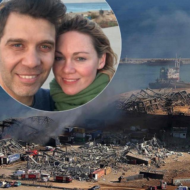 Felix Eldridge sa suprugom Helen Sullivan (u krugu); Bejrut