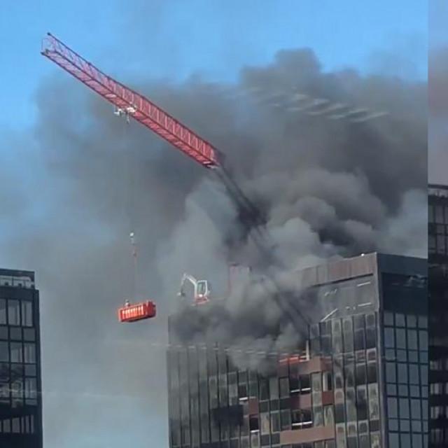 Požar na neboderu WTC-a u Bruxellesu