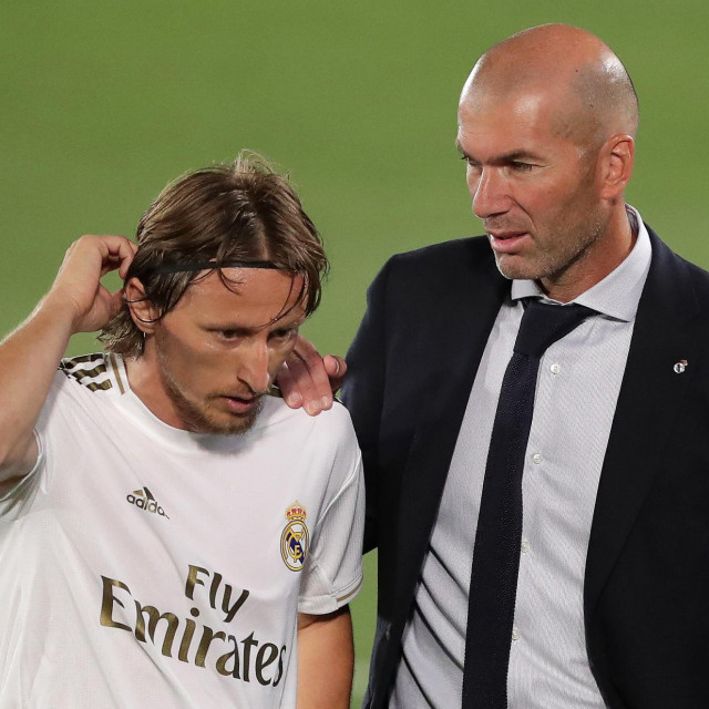 Zidane i Modrić