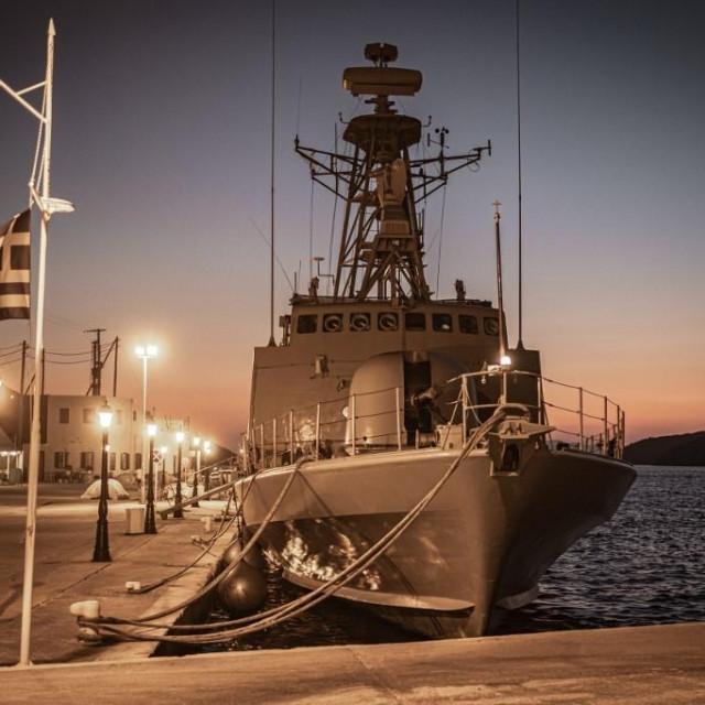 Grčki vojni brod u Katapoli