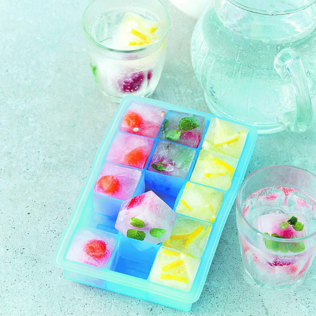Summer fruit ice cubes