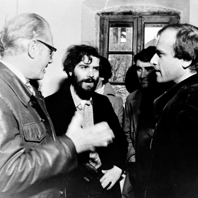 Duško Kečkemet, Tonko Maroević iIgor Zidić 1978. godine.