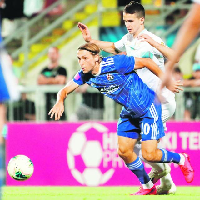 Rijeka, 050720. Stadion Rujevica. HNK Rijeka - GNK Dinamo. HT prva liga, 33.kolo. Na fotografiji: Lovro Majer.