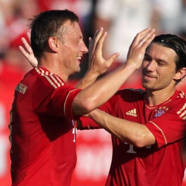 Ivica Olić i Danijel Pranjić u dresu Bayerna