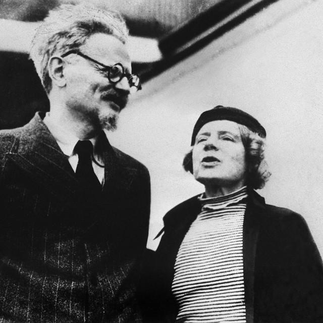 Trocki sa suprugom Natalijom