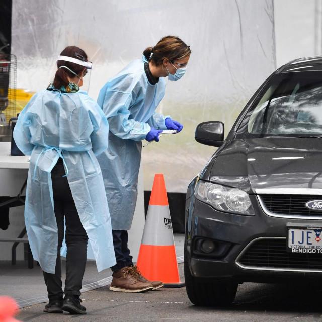Testiranje na koronavirus u Melbourneu