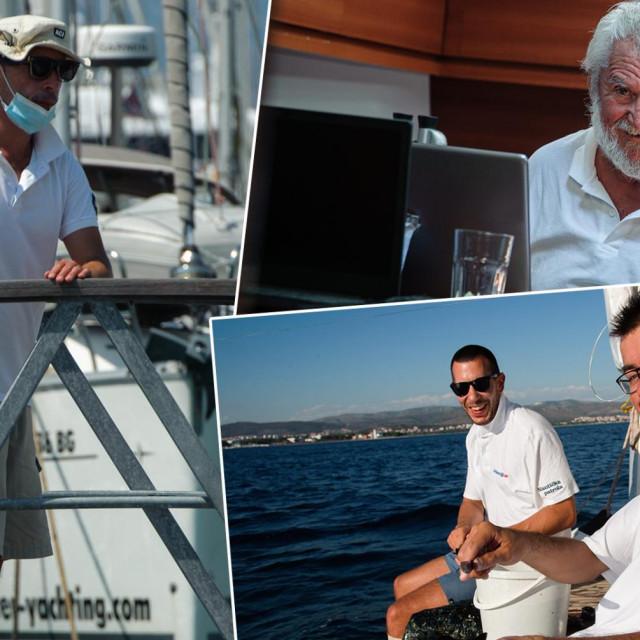 Ploveća redakcija Jutarnjeg, na čelu s kapetanom Mladenom Gerovcem (gore desno), iz svake je destinacije donosila priče o ljudima, OPG-ovima...